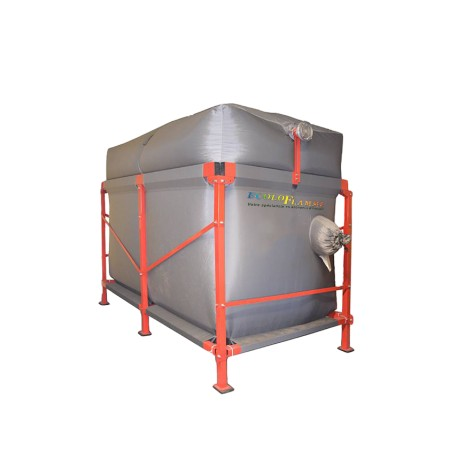 Silo de stockage à fond plat pour chaudière à granulés