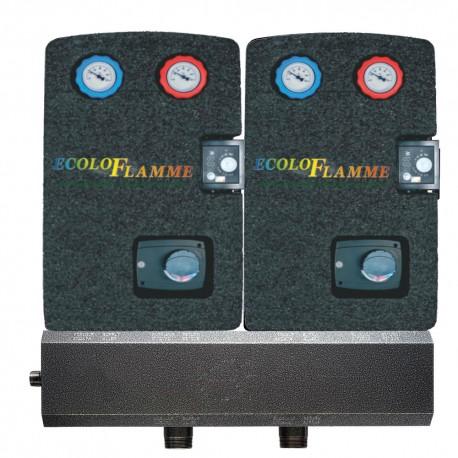 Système de distribution chauffage chauffage 2 circuits mélagés