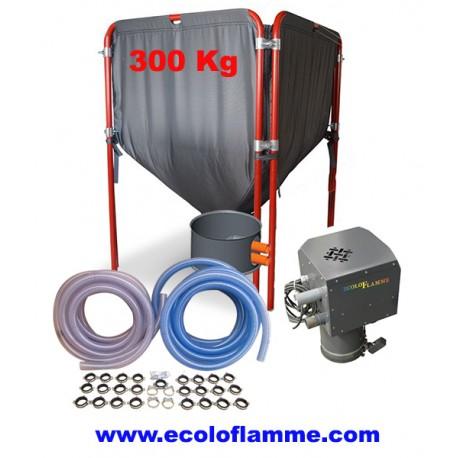 Kit mini silo à granulés avec système d'aspiration